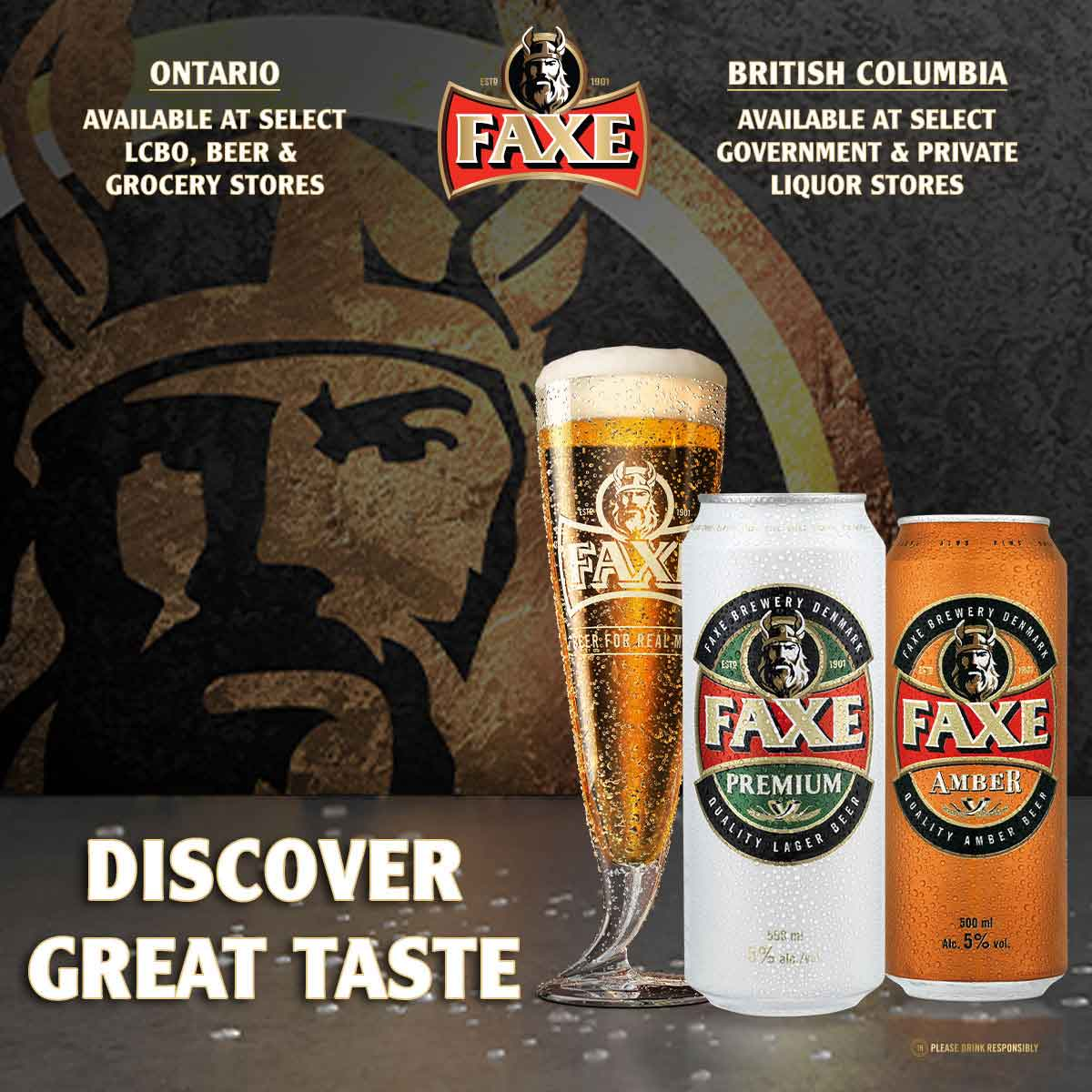 ENJOY FAXE BEER THIS SUMMER!